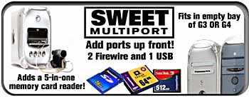 Sweet Multiport - add up front firewire and usb to your PowerMac G4!